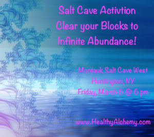 Salt Cave Activation with clare hollywood